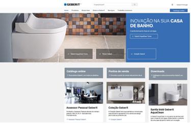 Novo design corporativo e nova página de internet www.geberit.pt