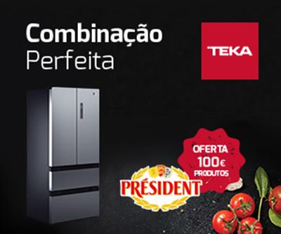 """FRIGORÍFICOS TEKA E PRODUTOS PRÉSIDENT SÃO """"COMBINAÇÃO PERFEITA"""""""